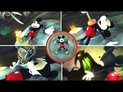 Epic Mickey All Cutscenes (Paint Path Movie) (Wii)
