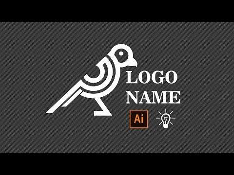 Adobe Illustrator Tutorial - Using Stokes For Create Bird Logo 2017