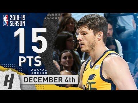 Kyle Korver Full Highlights Jazz vs Spurs 2018.12.04 - 15 Points off the Bench!