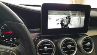 How to enable video in motion in a Mercedes Benz 2016 GLC 300