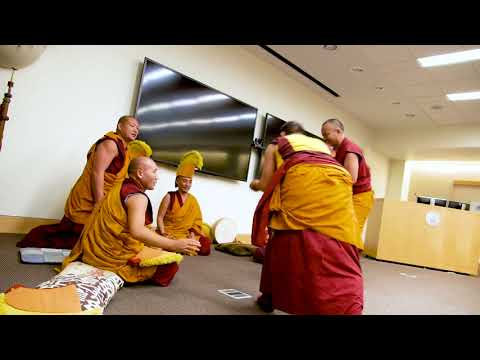 Monks from the Dali Lama's monastery -- visit to Webster U 2017