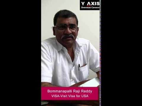 Bommanapalli Raji Reddy VISA Visit Visa for USA