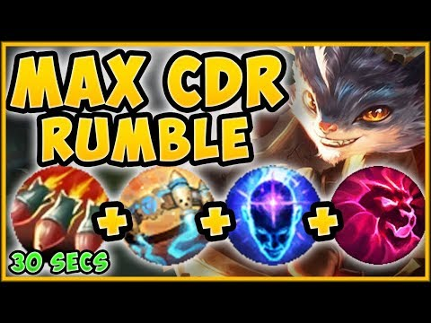 WTF RIOT?? MAX CDR RUMBLE BUILD = 2 ULTS EVERY MINUTE?! RUMBLE S9 TOP GAMEPLAY! - League of Legends