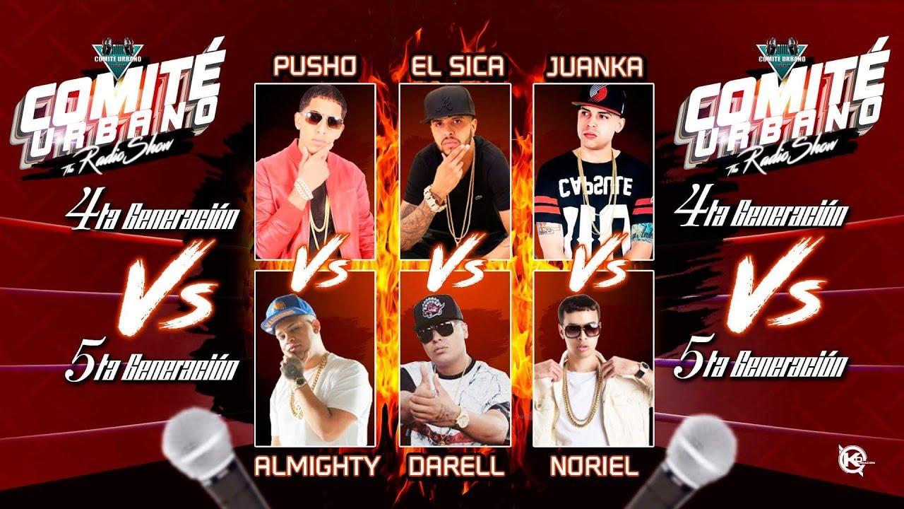 Pusho,El Sica,Juanka VS Almighty,Noriel,Darell (La 4ta Vs La 5ta) Fantasy Booking - El Comite Urbano