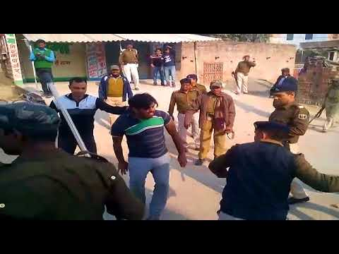 Bihar muzaffarpur firing on police situation in tense bombing shooting danger situation