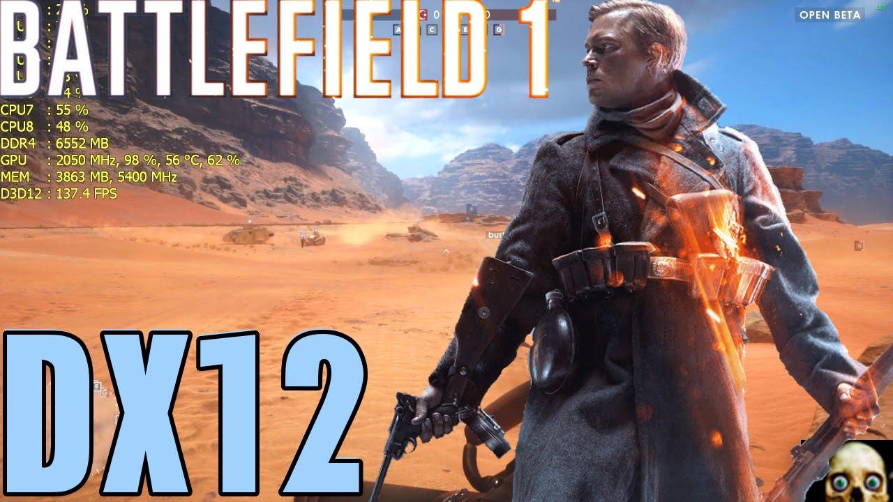 Battlefield 1 Gtx 1080 Fps Performance Ultra DirectX 12 1080P