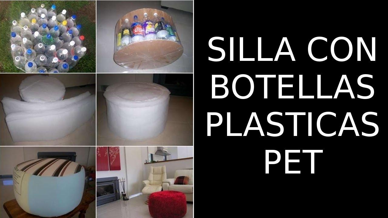 Reciclaje de botellas pl sticas pet manualidades silla - Materiales para tapizar una silla ...