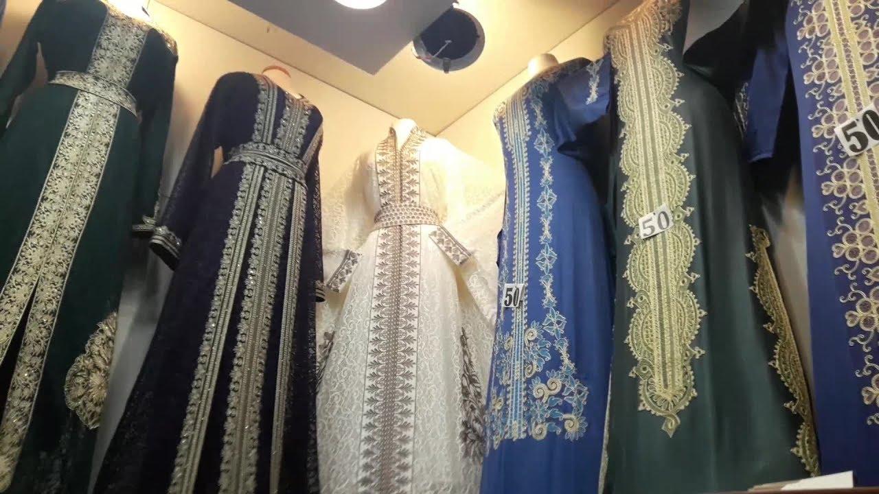 جولتي في سوق سويقة الرياض للعبايات المطرزة الملونة عبايات استقبال قفطان مغربي بالاسعار قناة الهنا Youtube