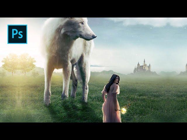 Wolf in Wonderland - Photoshop Manipulation Tutorial