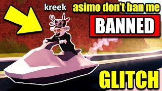 How To Drive JET SKI On LAND! *GLITCH* (ASIMO DON'T BAN ME PLEASE... 😭) Roblox Jailbreak Update