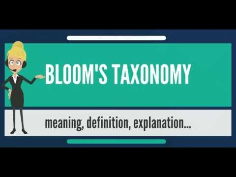 What Does Bloom S Taxonomy Mean Meaning