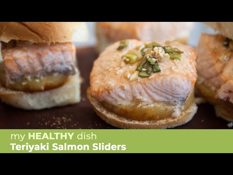 Salmon Sliders with Sriracha Aioli