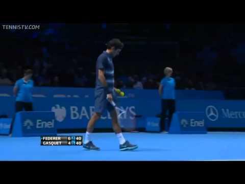 Insane Federer Kick Serve