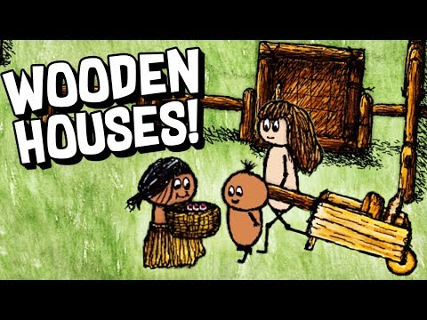 WOODEN HOUSES and RAISING CHILDREN!  - ONE HOUR ONE LIFE #2