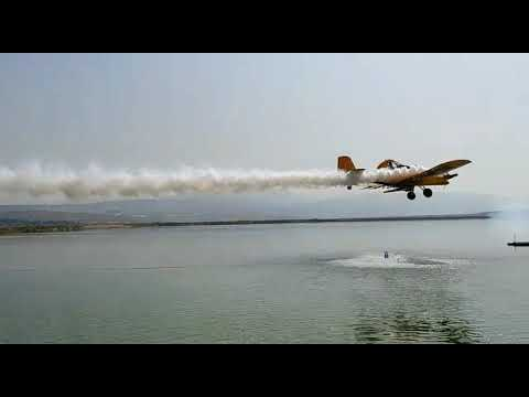 Aerial Application Of The Lake Guard Algicide - Application Within Seconds, Results Within 24h!