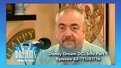 Disney Dream DCL Ship Info Part 1   11/07/16
