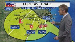 Hurricane Florence 2 pm Wednesday update