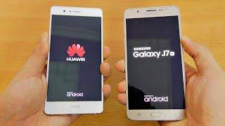 huawei p9 lite vs samsung galaxy j7 2016 speed test 4k