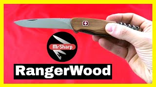 Victorinox RangerWood 55 Swiss Army Knife: best multi tool knife review.