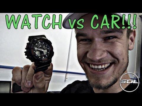 G SHOCK CHALLENGE vs PORSCHE Cayenne Turbo!