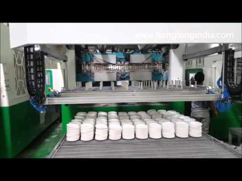 Honglong Biodegaradble sugar cane bagasse tableware production machine