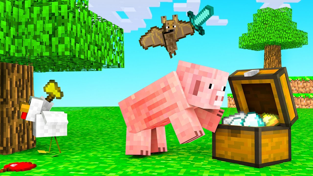 MINECRAFT But We're Playing as ANIMALS! #1