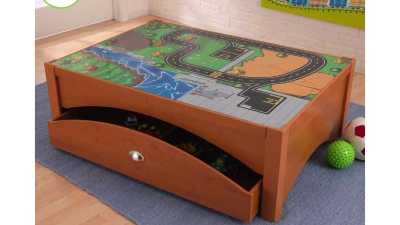 KidKraft Metropolis Wooden Play Table   Honey | 17942