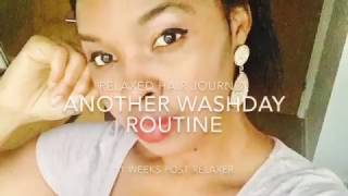 Wash Day Routine 2017 - Relaxed hair journey