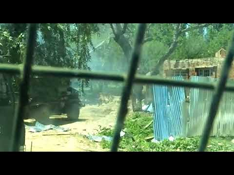 Live video of hizb militant ||sameer tiger at encounter site face to face