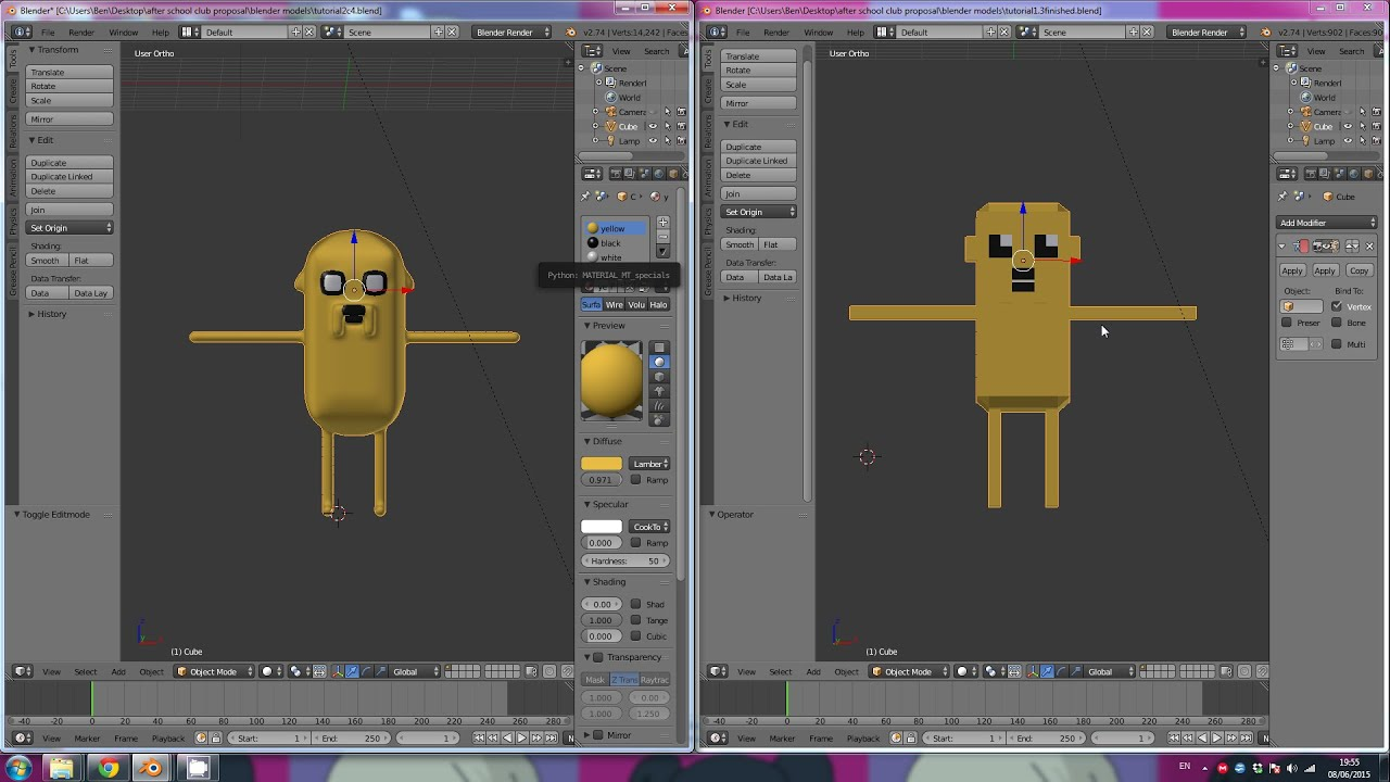 3d Character Design Tutorial Blender : Blender d basics how to make a super simple character