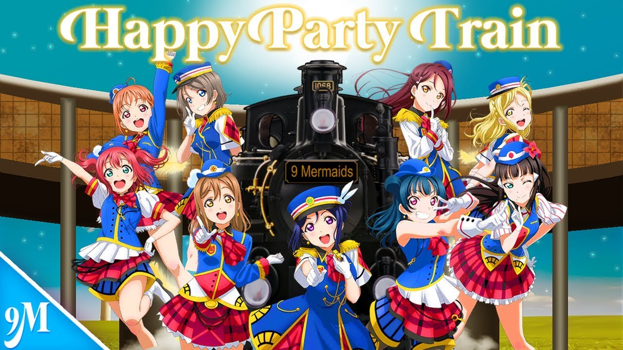 9 Mermaids Happy Party Train English Short Cover