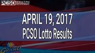PCSO Lotto Results April 19, 2017 (6/55, 6/45, 4D, Swertres & EZ2)