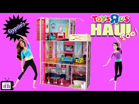 TOYS R US Barbie Made To Move & Dollhouse Toy Haul