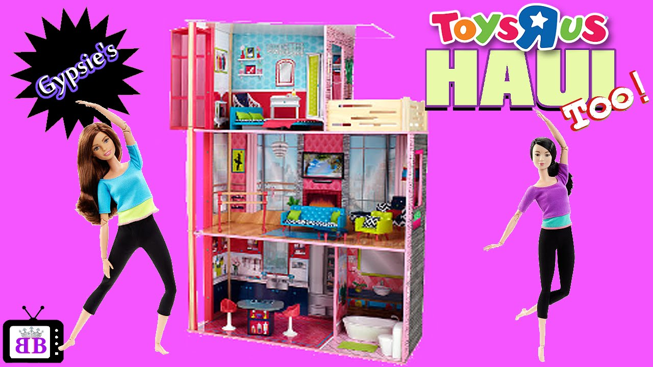 Toys R Us Barbie Made To Move Dollhouse Toy Haul Youtube