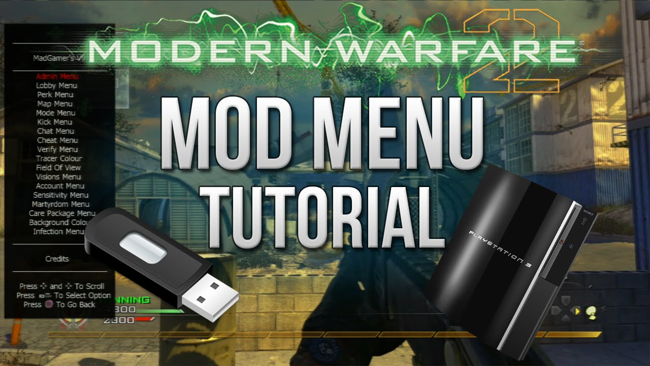 Cod4 mod menu ps3 tutorial.