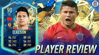 90 TEAM OF THE SEASON SO FAR ELKESON PLAYER REVIEW! TOTSSF ELKESON - FIFA 20 ULTIMATE TEAM