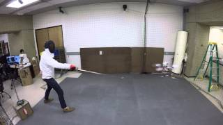 Fencing a Quadrotor: Dynamic Obstacle Avoidance