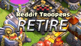 Clash of Clans Reddit Troopers Retire
