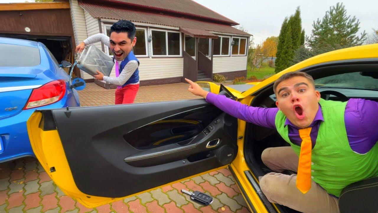 Mr. Joker on Opel Stole Gasoline from Racer Mr. Joe Camaro 13+