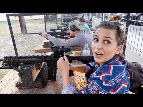 FIRST TIME SHOOTING A GUN!!! Combat Assault Rifle (SCAR)
