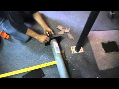Removing a lally column that is embedded in a concrete floor