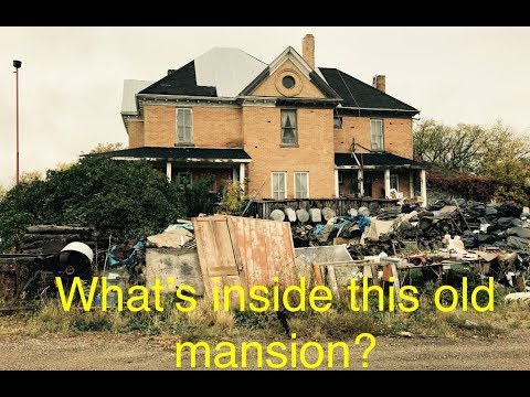 Scrapyard Mansion, exploring a 100 year old mansion full of antiques
