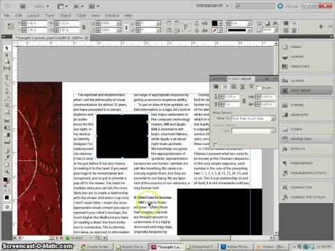 InDesign CS5, magazine layout, part4, page2