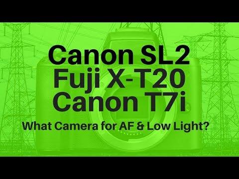 Canon SL2 vs Fuji X-T20 vs Canon T7i - What's BEST for AF & Low Light?