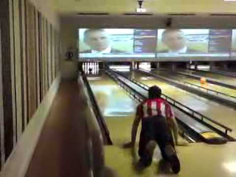 probably one of the most funniest strikes in bowling :)