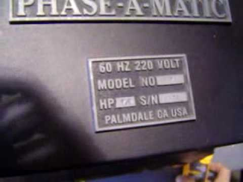 hqdefault phase a matic r7 rotary phase converter 042710 flv youtube phase a matic wiring diagram at aneh.co