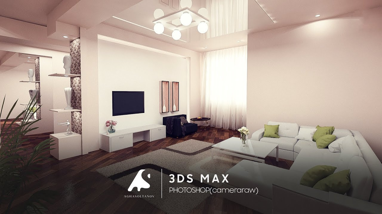 3d max modern interior modeling rendering vray 3 2 for Interior modeling in 3ds max