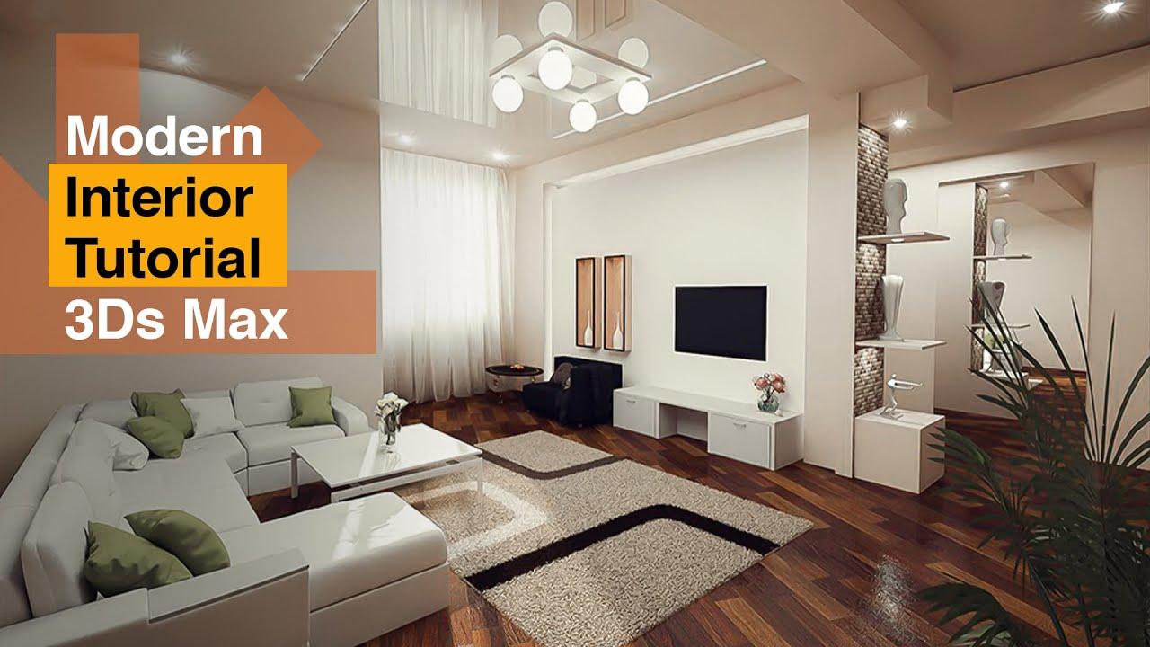 3D Max Modern Interior Modeling, Rendering, Vray 3.2 ...