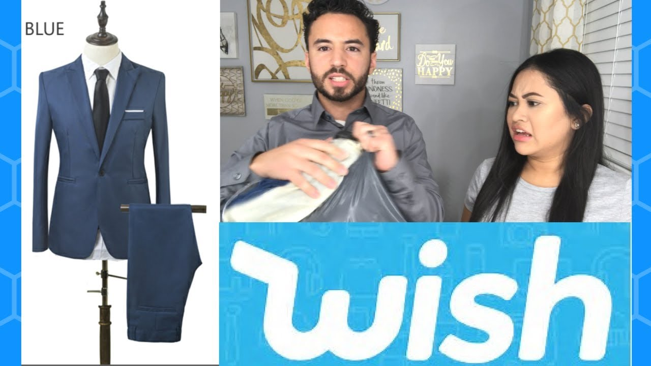 $17 Men\'s Suit From WISH: Actually Worth it? - YouTube