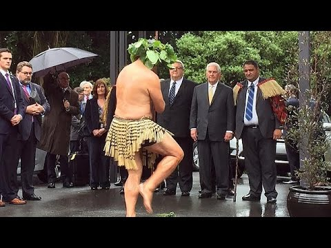 Protests greet Tillerson in New Zealand over US climate deal exit
